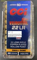 CCI .22 lfB.Velocitor 40gr Copper-Plated Hollow-Point CP-HP  HV   50 Stück