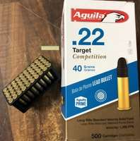 Aguila  .22 lr Target Competition  40grs  LRN  50 Stück
