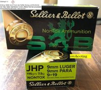 9 mm Luger S&B  Hohlspitz Non Tox  115 grs  50 St.