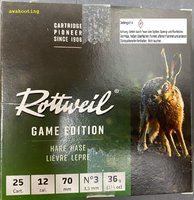 12/70 Rottweil Game Edition Hase  3,5 mm 36gr 25 Stück
